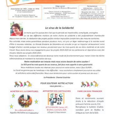 SED Les Infos : la Newsletter de la SED 2ème semestre 2020 est parue